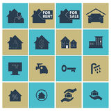 Set of house icons. hotel, Stock Photography