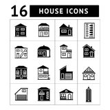 Set of house icons. Real estate and building colle. Ction royalty free illustration