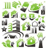 Set of house icons, symbols and signs Stock Images