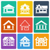 Set of house icons Stock Image