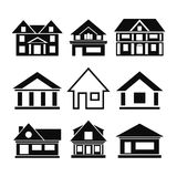 Set of house icons Royalty Free Stock Image