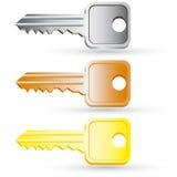 Set of house key icons. Royalty Free Stock Photo