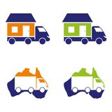 Moving. A set of house moving icons Royalty Free Stock Photo