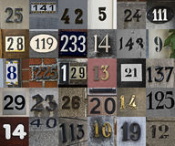 Set of house numbers. Background Stock Photos