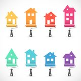 Set of house renovation icons. Painting services icons Royalty Free Stock Images