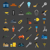 Set of house repair tools icons. Stock Photography