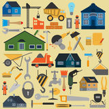 Set of house repair tools icons Stock Image