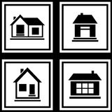 Set house on white backgrounds icon Royalty Free Stock Images