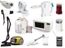 Set of  household appliances Royalty Free Stock Photo