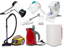 Set of  household appliances Stock Images