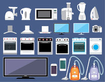 Set of household appliances. Image set of different appliances for the home Royalty Free Stock Photo