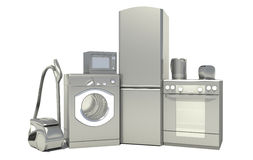 Set of household appliances.  Royalty Free Stock Photography