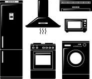 Set of household appliances Stock Image
