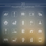 Set of household appliances icons Royalty Free Stock Photo