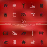 Set of household appliances icons Stock Image