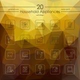 Set of household appliances icons Stock Photos