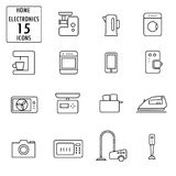 Set of household appliances icons Royalty Free Stock Photography