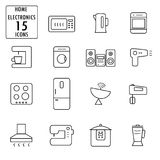 Set of household appliances icons Stock Images