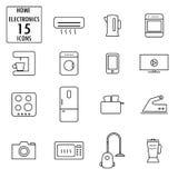 Set of household appliances icons Royalty Free Stock Photos