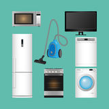 Set of household appliances. Modern kitchen devices. Stock Photo