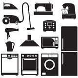Set of household appliances Stock Photo