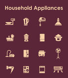 Set of household appliances simple icons Stock Images