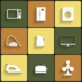 Set of household appliances vector icons Royalty Free Stock Photography
