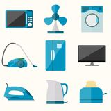 Set of household appliances vector icons Stock Photos