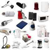 Set of  household appliances. On white background with shade Stock Photo