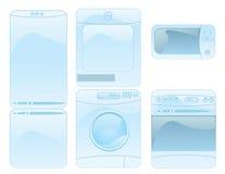 Set of household electronics. Cute glossy household electronics icon set Royalty Free Stock Photo