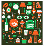 A set of household items Royalty Free Stock Photos