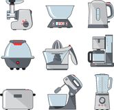 Set of household kitchen appliances Royalty Free Stock Images