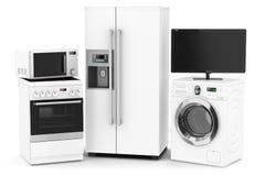 Set of household technics Stock Photos