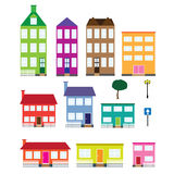Set of houses. stock photo