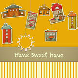 Set of Houses Stock Photography