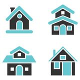 Houses Icon set-Vector Iconic Design Royalty Free Stock Photo