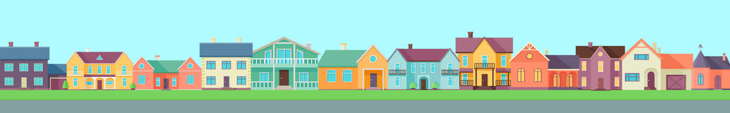 Set of Houses, Buildings and Architectures Stock Image