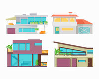Set of Houses, Buildings and Architectures Stock Photo
