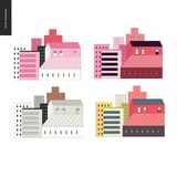 Set of houses Stock Images