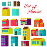 Set of houses Royalty Free Stock Photos