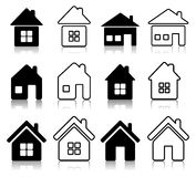 Set of houses icon Royalty Free Stock Photos