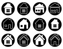 Set of houses icons Stock Images