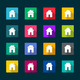 Set of houses icons. Illustration Stock Images