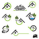 Set of houses icons for real estate business Royalty Free Stock Images