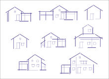 Set of houses icons Stock Photo