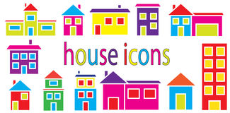 Set of houses icons vector Royalty Free Stock Image