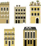 Set of houses. Royalty Free Stock Photos