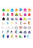 Houses logotypes Stock Images