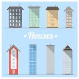Set of houses. royalty free illustration