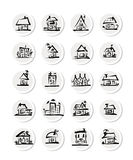 Set of  houses, sketch for your design Royalty Free Stock Image